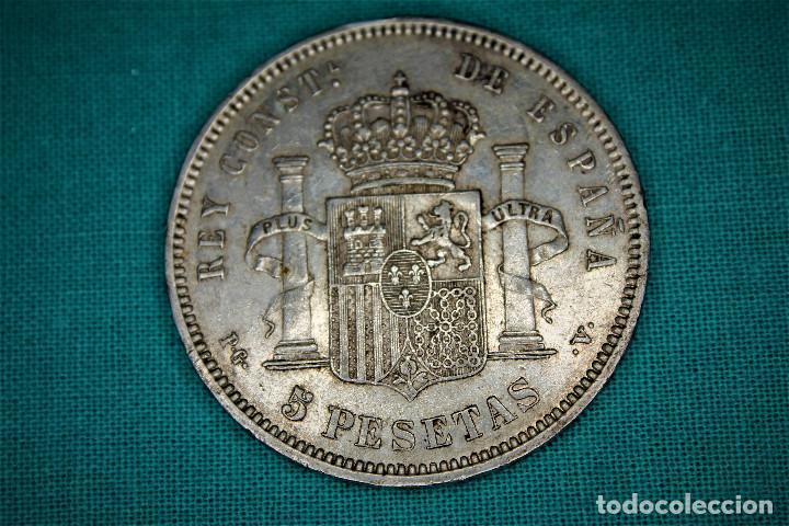 Monedas de España: España 5 Pesetas Alfonso XIII Variante Oreja Rallada 1894 Estrellas 18-94 PG V 3088 - Foto 2 - 194244663
