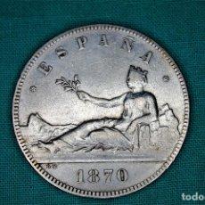 Monedas de España: ESPAÑA 5 PESETAS GOBIERNO PROVISIONAL 1870 ESTRELLAS 18-70 3093. Lote 194244968