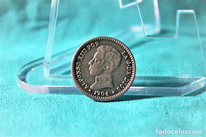 ESPAÑA 50 CÉNTIMOS ALFONSO XIII 1904 ESTRELLAS 1-0 PC V 3079 (Numismática - España Modernas y Contemporáneas - De Isabel II (1.834) a Alfonso XIII (1.931))