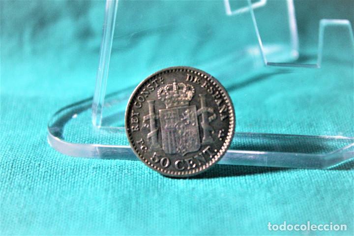 Monedas de España: España 50 Céntimos Alfonso XIII 1904 Estrellas 1-0 PC V 3079 - Foto 2 - 194245392