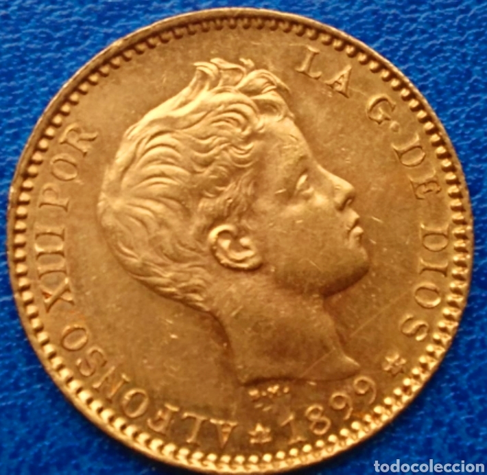 20 PESETAS DE ORO ALFONSO XIII. 1899*18*99. SM-V !! LUJO !! ESCASA ASÍ !! (Numismática - España Modernas y Contemporáneas - De Isabel II (1.834) a Alfonso XIII (1.931))