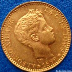 Monedas de España: 20 PESETAS DE ORO ALFONSO XIII. 1899*18*99. SM-V !! LUJO !! ESCASA ASÍ !!. Lote 194249143
