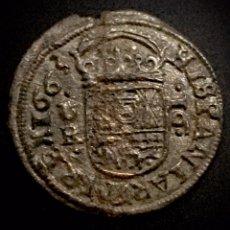 Monedas de España: FELIPE IV-16 MARAVEDÍS -1663- CORUÑA. Lote 194249210