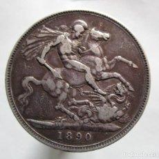 Monedas de España: REINO UNIDO . UNA CORONA DE PLATA DE 1890 . REINA VICTORIA . MUY BONITA. Lote 194265767
