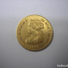 Monedas de España: 4 ESCUDOS DE ORO DE 1867, MADRID. REINA ISABEL II. Lote 194281110