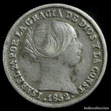 Monedas de España: ISABEL II, 1 REAL DE PLATA DE SEVILLA 1852 - 12 MM / 1.27 GR.. Lote 194311165