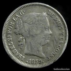 Monedas de España: ISABEL II, 1 REAL DE PLATA DE MADRID 1859 - 14 MM / 1.29 GR.. Lote 194311461