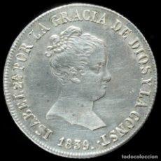 Monedas de España: ISABEL II, 4 REALES DE PLATA DE SEVILLA 1839 (EBC +/ BRILLO OIGINAL) - 21 MM / 5.84 GR.. Lote 194311962