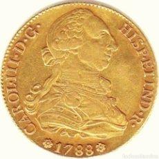 Monedas de España: 8 ESCUDOS DE ORO CARLOS III. 1788 SEVILLA !! EXCELENTE !! RARA !!. Lote 194345826
