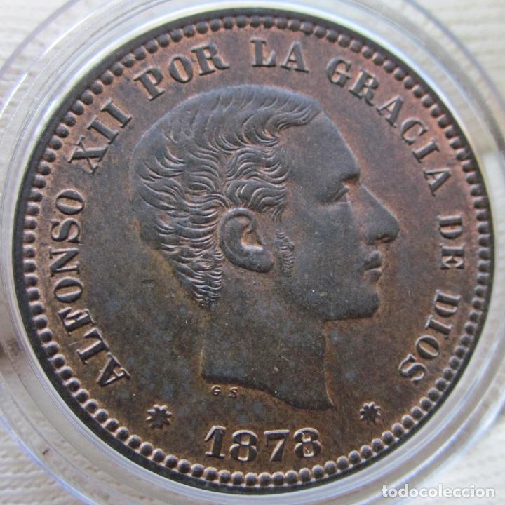 Monedas de España: 5 CÉNTIMOS 1878. ALFONSO XII. SIN CIRCULAR. RESTOS DE BRILLO ORIGINAL - Foto 2 - 194351322