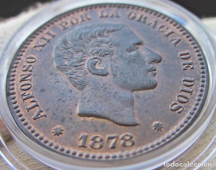 Monedas de España: 5 CÉNTIMOS 1878. ALFONSO XII. SIN CIRCULAR. RESTOS DE BRILLO ORIGINAL - Foto 4 - 194351322