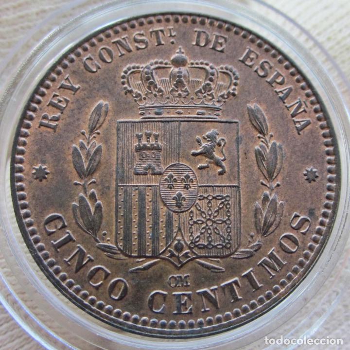 Monedas de España: 5 CÉNTIMOS 1878. ALFONSO XII. SIN CIRCULAR. RESTOS DE BRILLO ORIGINAL - Foto 5 - 194351322