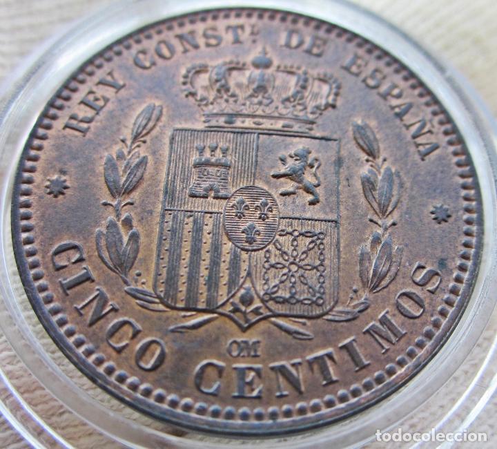 5 CÉNTIMOS 1878. ALFONSO XII. SIN CIRCULAR. RESTOS DE BRILLO ORIGINAL (Numismática - España Modernas y Contemporáneas - De Isabel II (1.834) a Alfonso XIII (1.931))