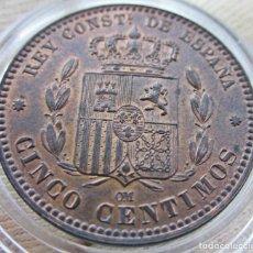 Monedas de España: 5 CÉNTIMOS 1878. ALFONSO XII. SIN CIRCULAR. RESTOS DE BRILLO ORIGINAL. Lote 194351322