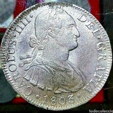 Monedas de España: ESPAÑA/ CARLOS IIII 1803/ 8 REAL/ MÉJICO-FT-. Lote 194359343