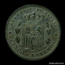 Monedas de España: ALFONSO XII, 5 CÉNTIMOS DE BARCELONA, 1879 - 23 MM / 4.80 GR. Lote 194369040