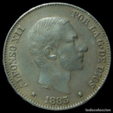 Monedas de España: ALFONSO XII, 50 CÉNTIMOS DE PLATA DE PESO, MANILA, 1885 - 28 MM / 13.00 GR. Lote 194369738