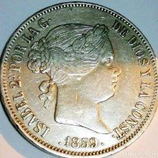 Monedas de España: ESPAÑA ISABEL 2ª 20 REALES 1859 MADRID MBC+ PLATA 3076. Lote 194385773
