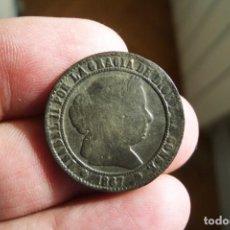Monedas de España: ISABEL II 2 Y 1/2 CENTIMOS DE ESCUDO 1867 BARCELONA ALGO SUCIA. Lote 194505136