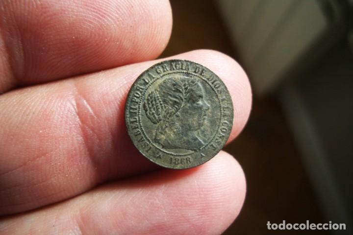 ISABEL II 1/2 CENTIMO ESCUDO 1868 SEGOVIA (Numismática - España Modernas y Contemporáneas - De Isabel II (1.834) a Alfonso XIII (1.931))