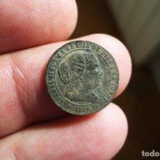 Monedas de España: ISABEL II 1/2 CENTIMO ESCUDO 1868 SEGOVIA. Lote 194517165