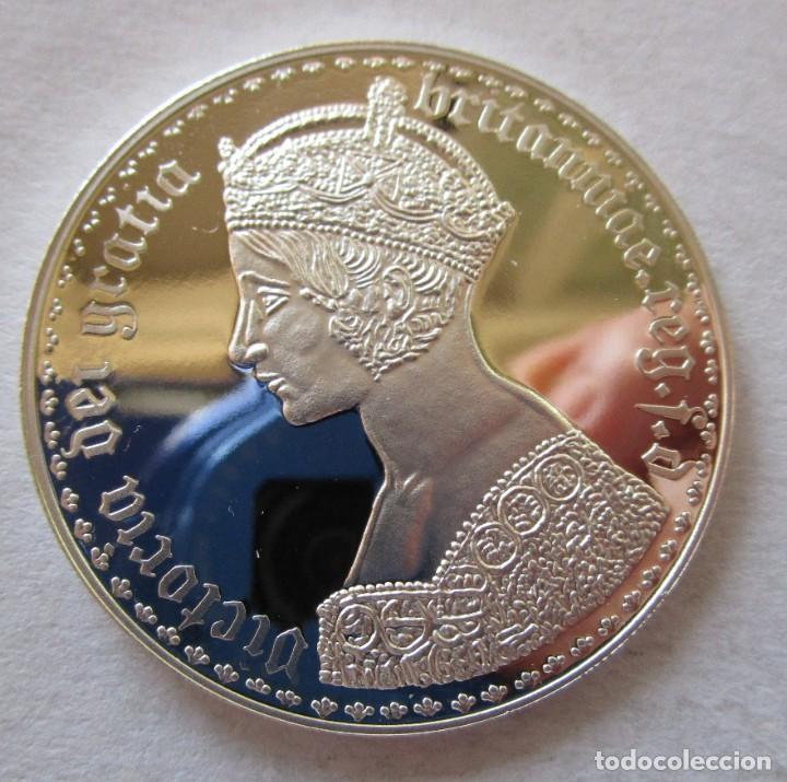 VICTORIA DEI GRATIA . MEDALLA DE PLATA DE MAXIMA CALIDAD . FDC (Numismática - España Modernas y Contemporáneas - De Isabel II (1.834) a Alfonso XIII (1.931))