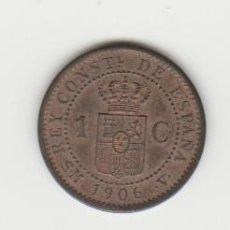 Monedas de España: ALFONSO XIII- 1 CENTIMO- 1906*6 SMV- MUY RARA. Lote 194528490