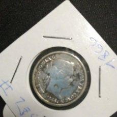 Monedas de España: MONEDA 40 CTS ESCUDO ISABEL II, 1866,PLATA . Lote 194536562