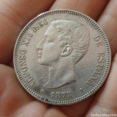 Monedas de España: 5 PESETAS 1875*18*75 MBC+. Lote 194554162