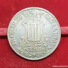 Monedas de España: ESPAÑA 6 CUARTOS - ISABEL II 1838 CATALUÑA KM 682. Lote 194570903