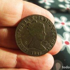 Monedas de España: ISABEL II 8 MARAVEDIES 1846 SEGOVIA MUY BONITA. Lote 194598417