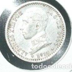 Monedas de España: 50 CÉNTIMOS 1910 *1 *0 P.C.V ALFONSO XIII ESPAÑA PLATA. Lote 194628490
