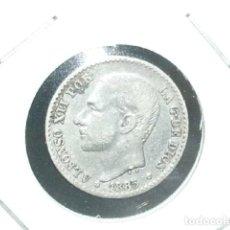 Monedas de España: 50 CENTIMOS DE PLATA DE 1885 . 8--6. REY ALFONSO XII. Lote 194628846