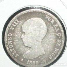 Monedas de España: (ESCASA) 1 PESETA ALFONSO XIII PLATA 1889 MPM. Lote 194631633
