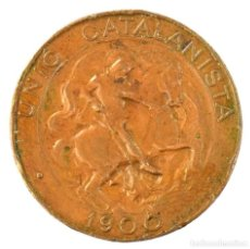 Monedas de España: UNIÓ CATALANISTA 5 CÉNTIMOS 1900 BARCELONA. Lote 194657790
