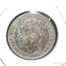 Monedas de España: ALFONSO XIII, 1 PESETA DE PLATA 1899 * 18 - -9. MADRID-S.G.V. Lote 194658220