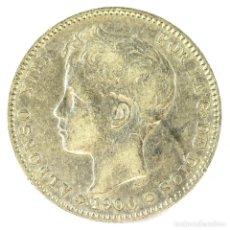 Monedas de España: ALFONSO XIII 1 PESETA 1900 S.M. V 19-00 PLATA. Lote 194658410