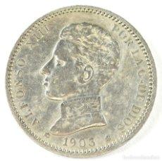 Monedas de España: ALFONSO XIII 1 PESETA 1903 A.M. V 18-03 PLATA. Lote 194658647