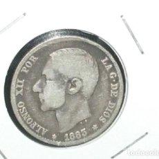 Monedas de España: MONEDA DE PLATA DE 1 PESETA 1883.ALFONSO XII.. Lote 194658920