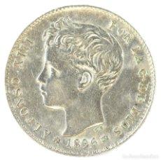 Monedas de España: ALFONSO XIII 1 PESETA 1896 P.G. V 18-96 PLATA . Lote 194659182