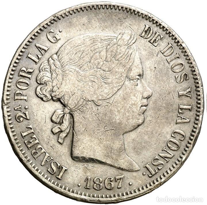 Monedas de España: 2 ESCUDOS ISABEL II 1867 MADRID - Foto 2 - 193811130