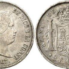 Monedas de España: 2 ESCUDOS ISABEL II 1867 MADRID. Lote 193811130