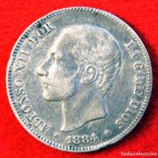 Monedas de España: ALFONSO XII 2 PESETAS 1884 18-84 M.S. M PLATA. Lote 194663911