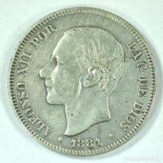 Monedas de España: ALFONSO XII 2 PESETAS 1881 **-81 M.S. M PLATA . Lote 194664455