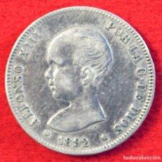 Monedas de España: ALFONSO XII 2 PESETAS 1892 1*-92 P.G. M PLATA . Lote 194664765