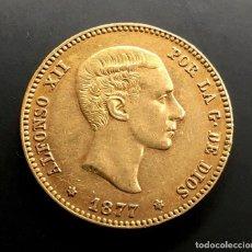 Monedas de España: BONITA PIEZA DE ORO DE 25 PESETAS DE ALFONSO XII. AÑO 1877. ESTRELLAS 18 - 77.. Lote 194736601