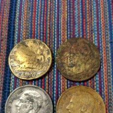 Monedas de España: BOL1- CUATRO DUROS FALSOS DE ÉPOCA TODOS DISTINTOS. MUY INTERESANTE.. Lote 194750875