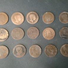 Monedas de España: ALFONSO XII. DIEZ CÉNTIMOS. 15 PIEZAS.. Lote 194754036