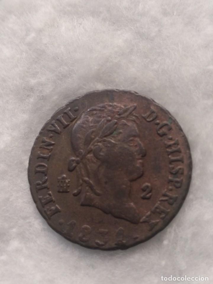 2 MARAVEDÍES - FERNANDO VII- 1831. MBC (Numismática - España Modernas y Contemporáneas - De Reyes Católicos (1.474) a Fernando VII (1.833))