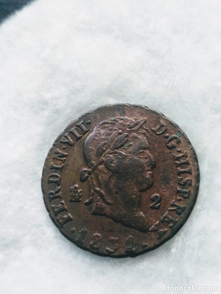 Monedas de España: 2 maravedíes - FERNANDO VII- 1831. MBC - Foto 2 - 194771241